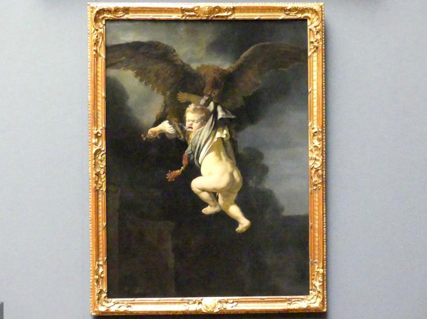 Rembrandt (Rembrandt Harmenszoon van Rijn): Ganymed in den Fängen des Adlers, 1635