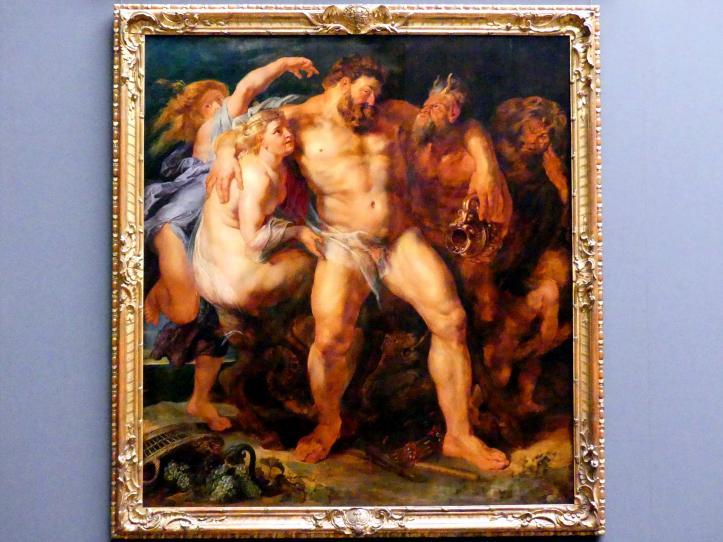 Peter Paul Rubens: Der trunkene Herkules, von einer Nymphe und einem Satyrn geführt, um 1613 - 1614