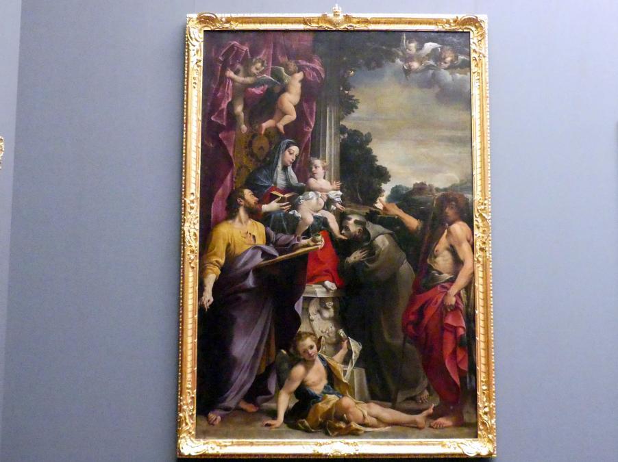 Annibale Carracci: Thronende Madonna mit dem heiligen Matthäus, 1588