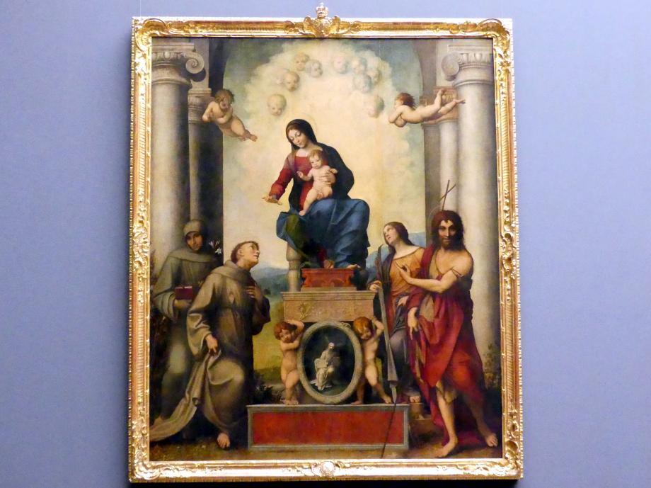 Antonio Allegri (Correggio): Die Madonna des heiligen Franziskus, 1514 - 1515