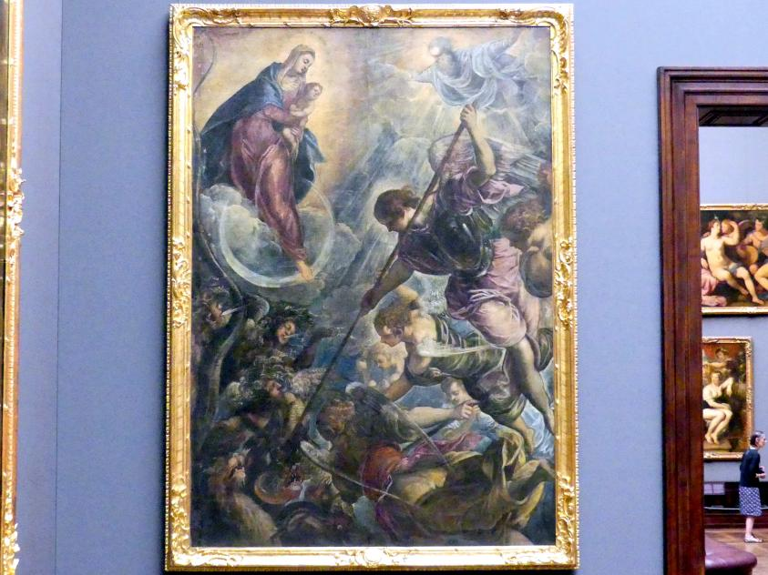 Tintoretto (Jacopo Robusti): Der Kampf des Erzengels Michael mit dem Satan, um 1590