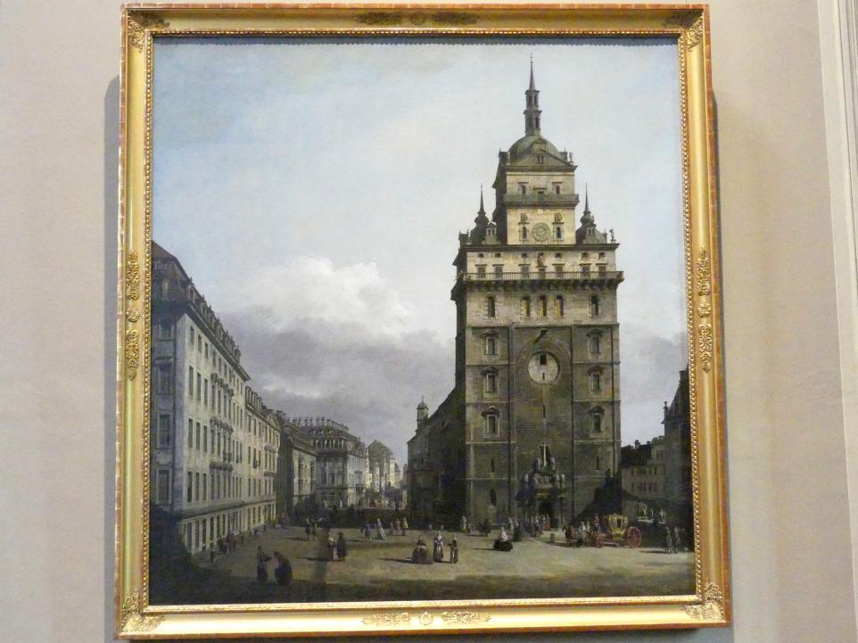 Bernardo Bellotto (Canaletto): Die ehemalige Kreuzkirche in Dresden, Um 1751