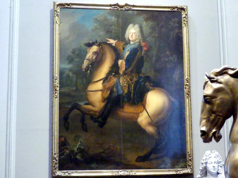 Louis de Silvestre: Kurprinz Friedrich August von Sachsen (1696-1763) zu Pferde, Um 1718