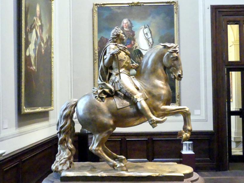 Paul Heermann: Modell zu einem Reiterstandbild für August den Starken, um 1711 - 1713