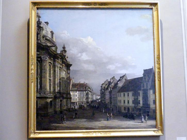 Bernardo Bellotto (Canaletto): Die Frauenkirche in Dresden, Um 1751