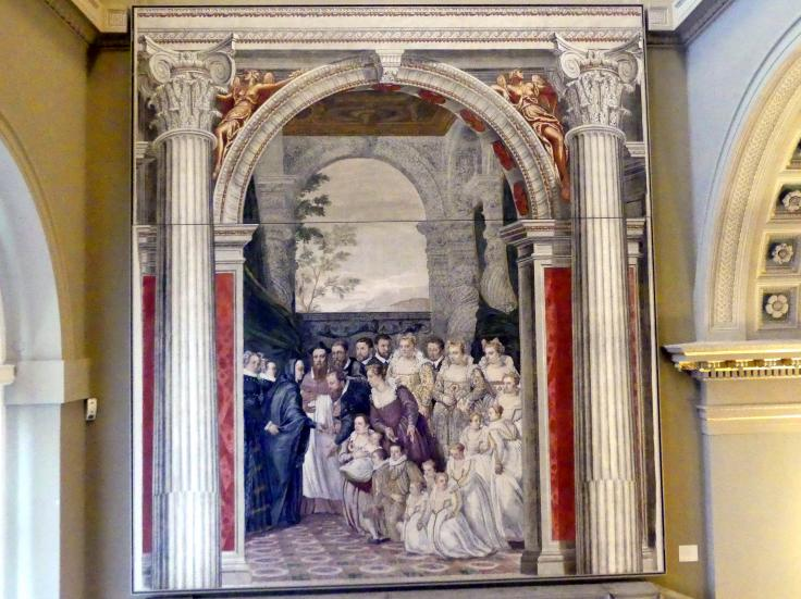 Francesco Montemezzano: Empfang der Maria von Österreich (1528-1603) durch die Familie Ragazzoni 1581, um 1581 - 1582