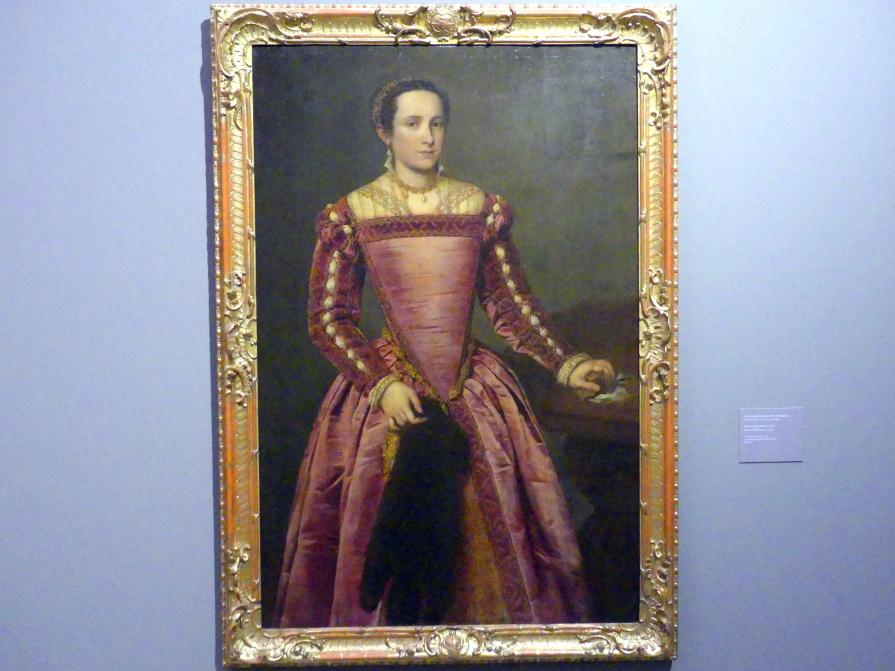 Giovanni Battista Moroni: Dame in rotem Kleid, um 1560