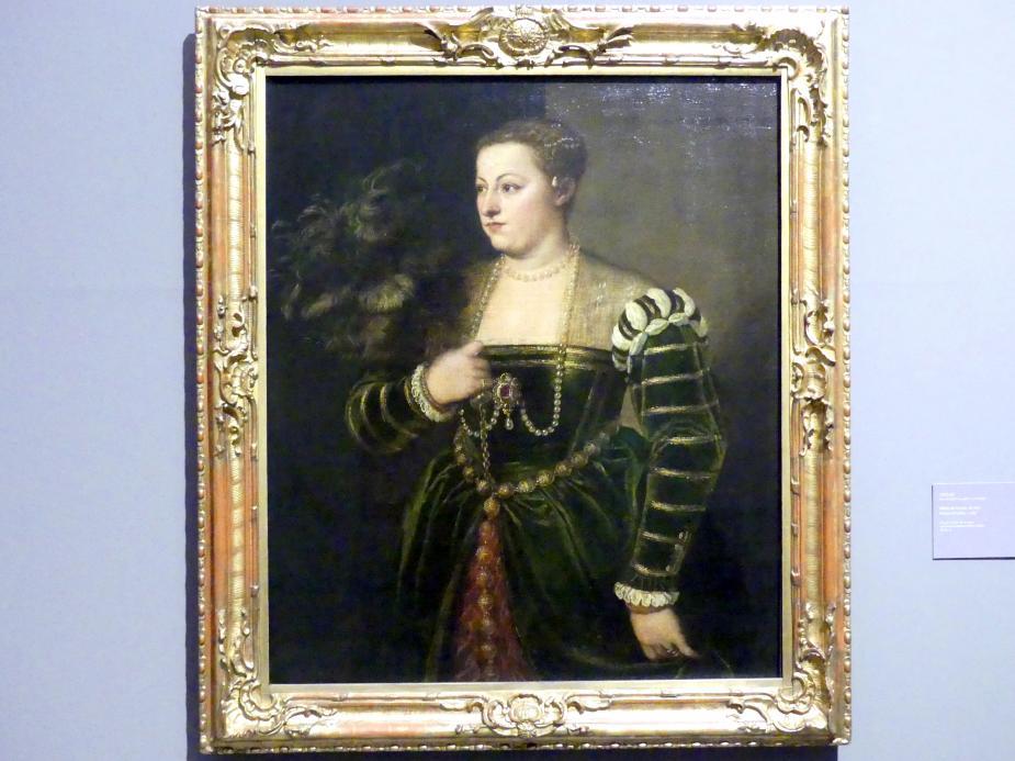 Tiziano Vecellio (Tizian): Bildnis der Lavinia, um 1565