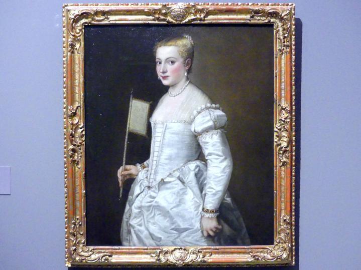 Tiziano Vecellio (Tizian): Bildnis einer Dame in Weiß, um 1561