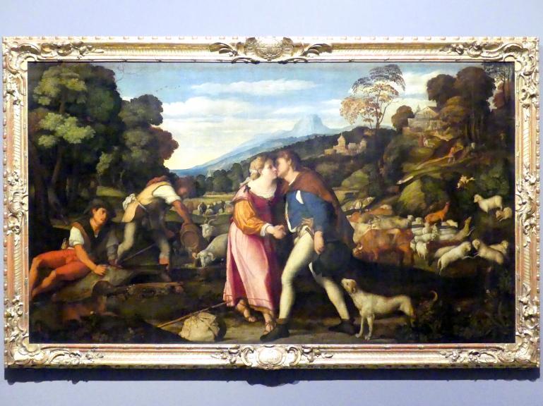 Jacopo Palma il Vecchio (Jacomo Nigretti de Lavalle): Jakob und Rachel, um 1524 - 1525