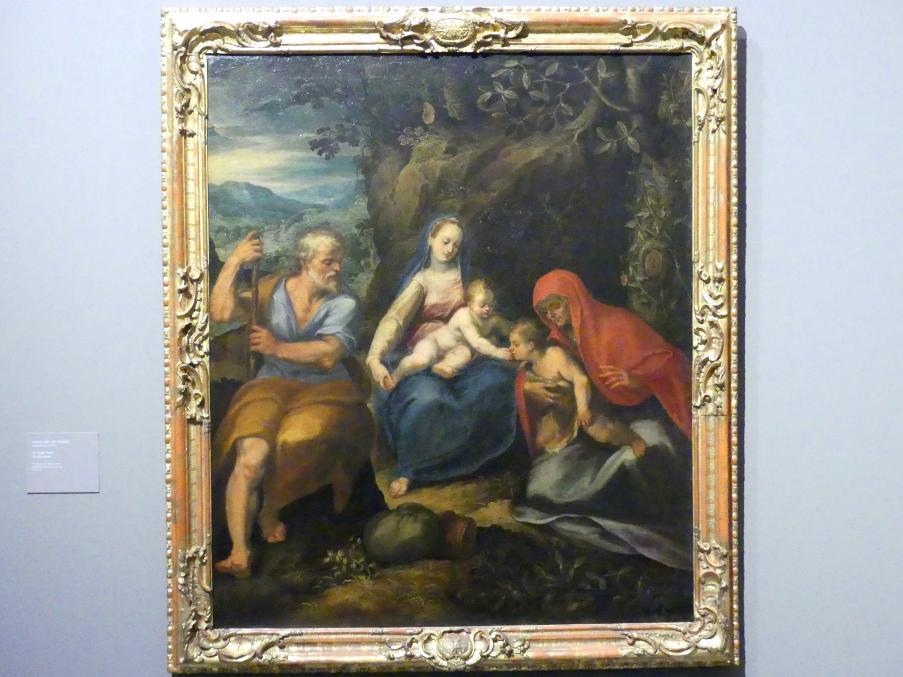 Girolamo Muziano: Die Heilige Familie, Undatiert