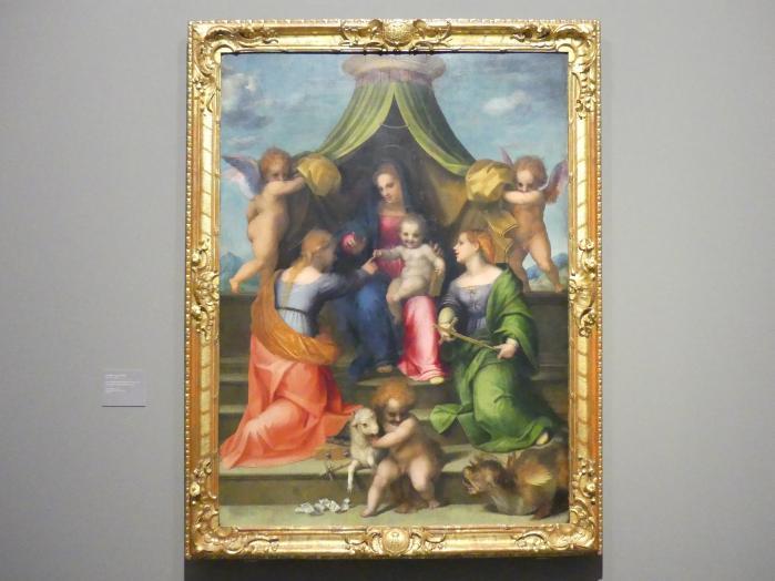 Girolamo Mazzola Bedoli: Maria mit dem Kind und Heiligen, um 1532 - 1533