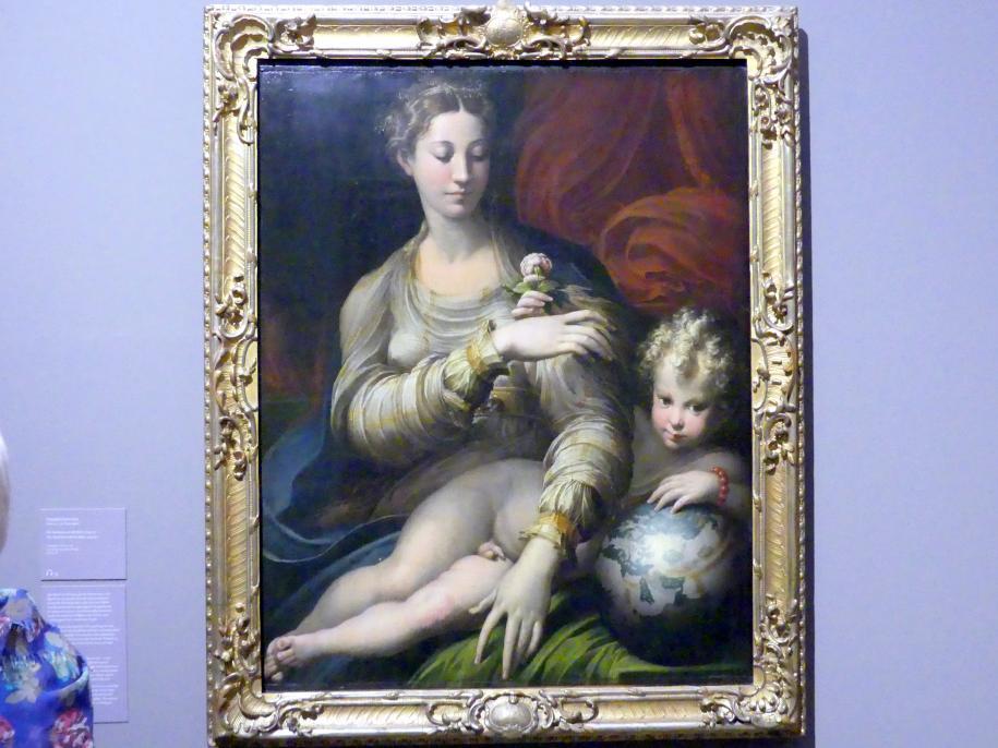 Parmigianino (Girolamo Francesco Maria Mazzola): Die Madonna mit der Rose, 1529 - 1530, Bild 1/3