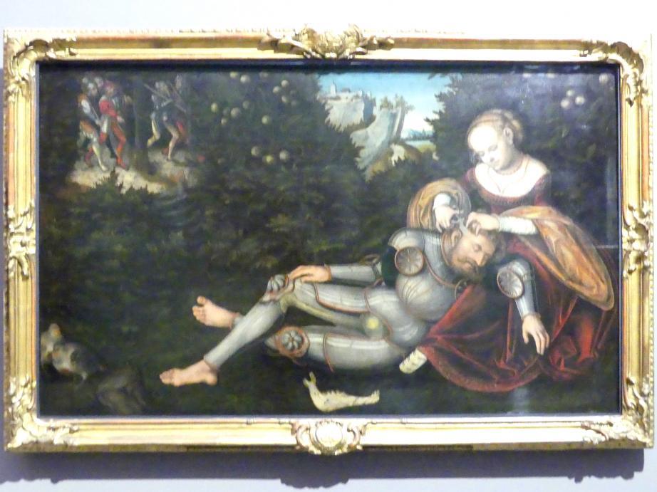 Lucas Cranach der Jüngere: Simson und Delila, um 1537