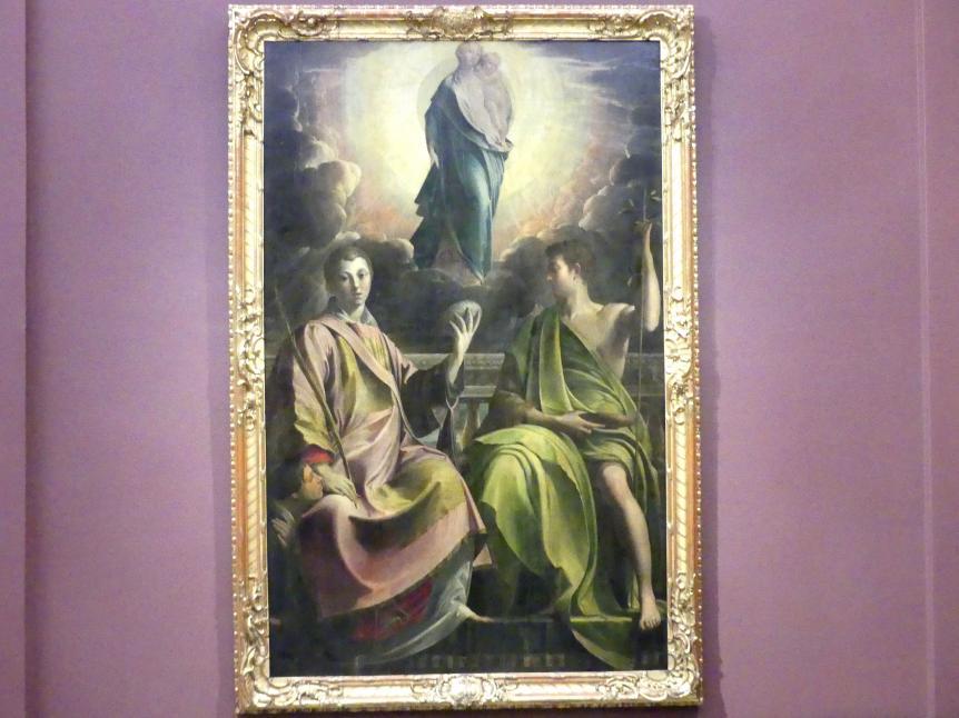 Parmigianino (Girolamo Francesco Maria Mazzola): Die Madonna mit dem Heiligen Stephan und Johannes dem Täufer sowie einem Stifter, 1539 - 1540