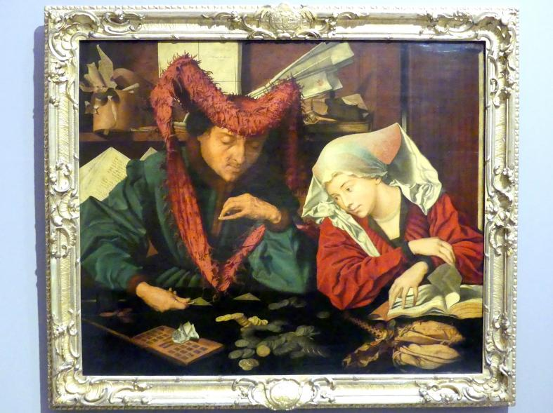 Marinus van Reymerswaele: Der Geldwechsler mit seiner Frau, 1541