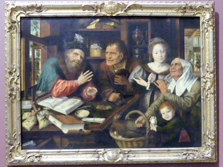 Jan Massys (Werkstatt): Beim Steuereinnehmer, 1539