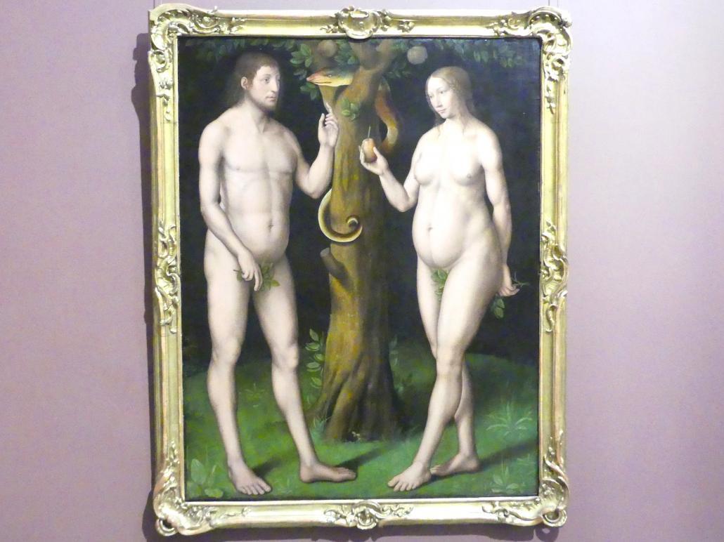 Adam und Eva unter dem Baum der Erkenntnis, 1. Hälfte 16. Jhd.