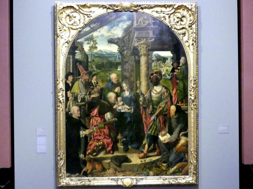 Joos van Cleve (Joos van der Beke): Die große Anbetung der Könige, Um 1525