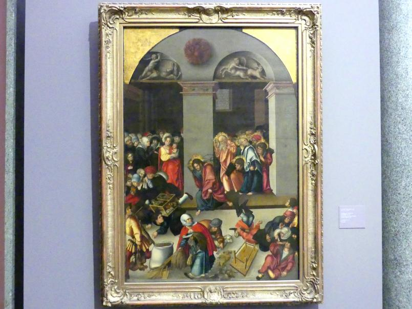 Lucas Cranach der Ältere: Vertreibung der Wechsler aus dem Tempel, um 1510