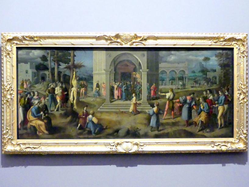 """Francesco Ubertini (Bachiacca): Die Legende von den Söhnen des Königs (""""Das Leichenschießen""""), Um 1523"""