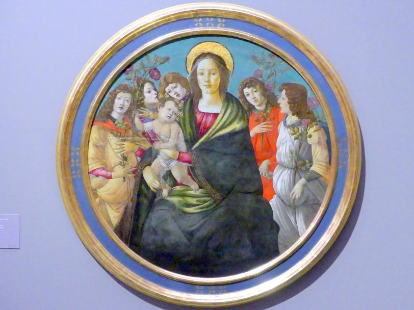 Sandro Botticelli (Schule): Maria mit dem Kind und Engeln, Undatiert