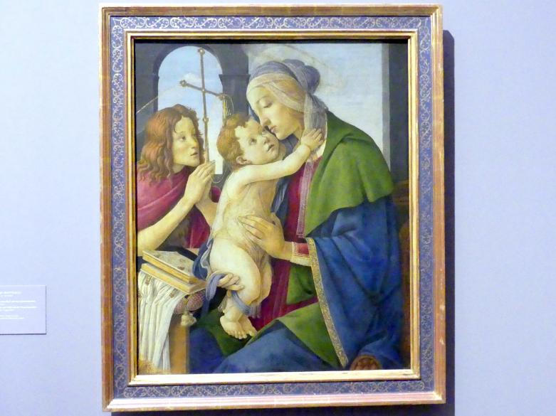 Sandro Botticelli: Maria mit dem Kind und dem Johannesknaben, Um 1490 - 1500