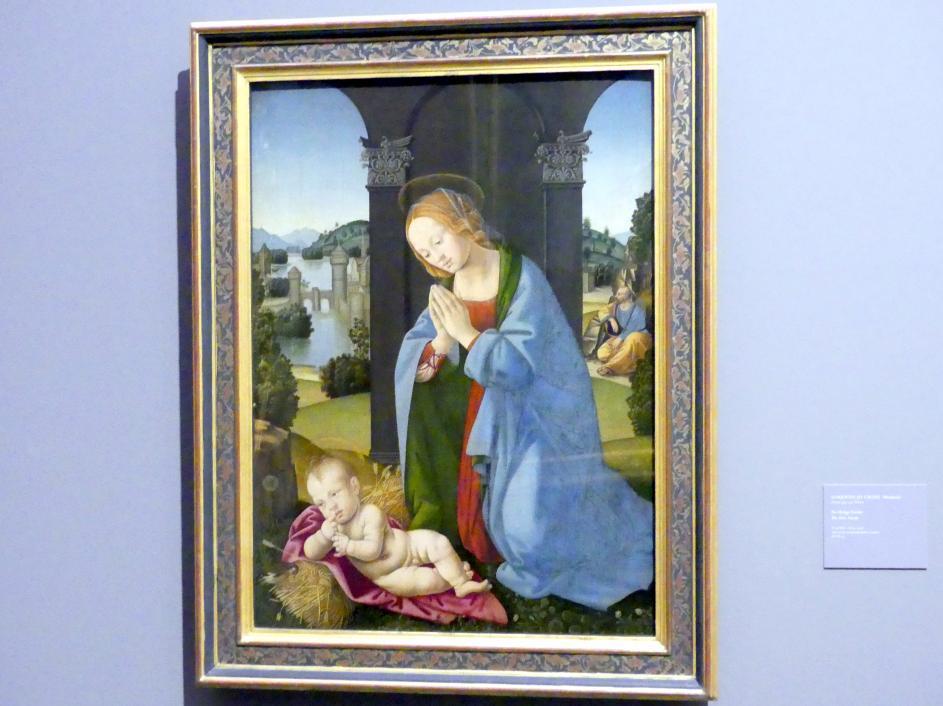 Lorenzo di Credi (Werkstatt): Die Heilige Familie, Undatiert