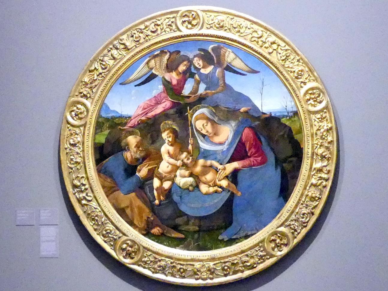 Piero di Cosimo: Die Heilige Familie, Um 1490 - 1500