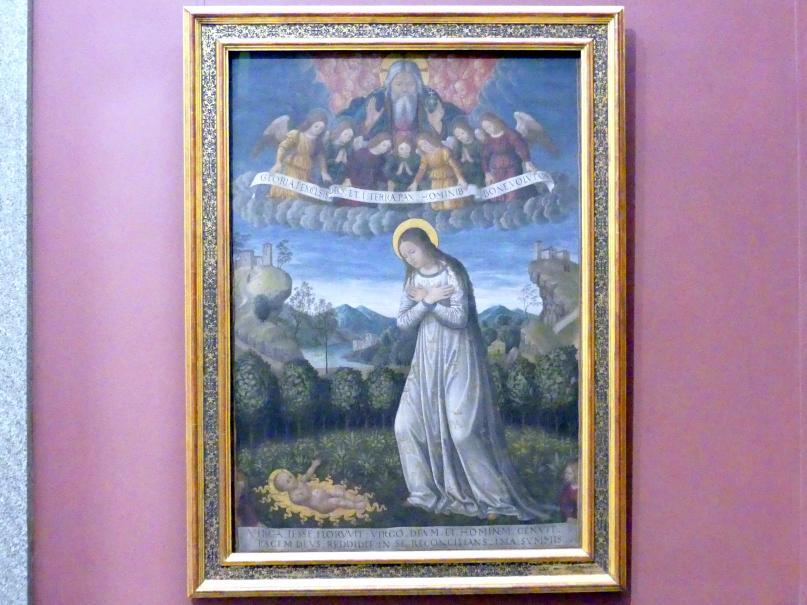 Giovanni Ambrogio Bevilacqua: Maria, das Kind anbetend, um 1500 - 1510