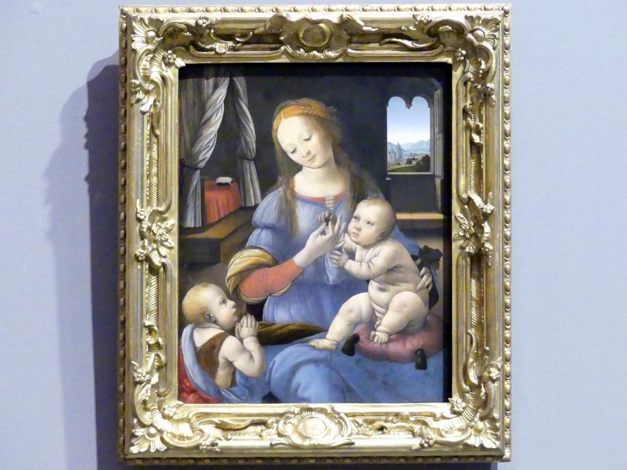 Lorenzo di Credi: Maria mit dem Kind und Johannes, 1480 - 1485