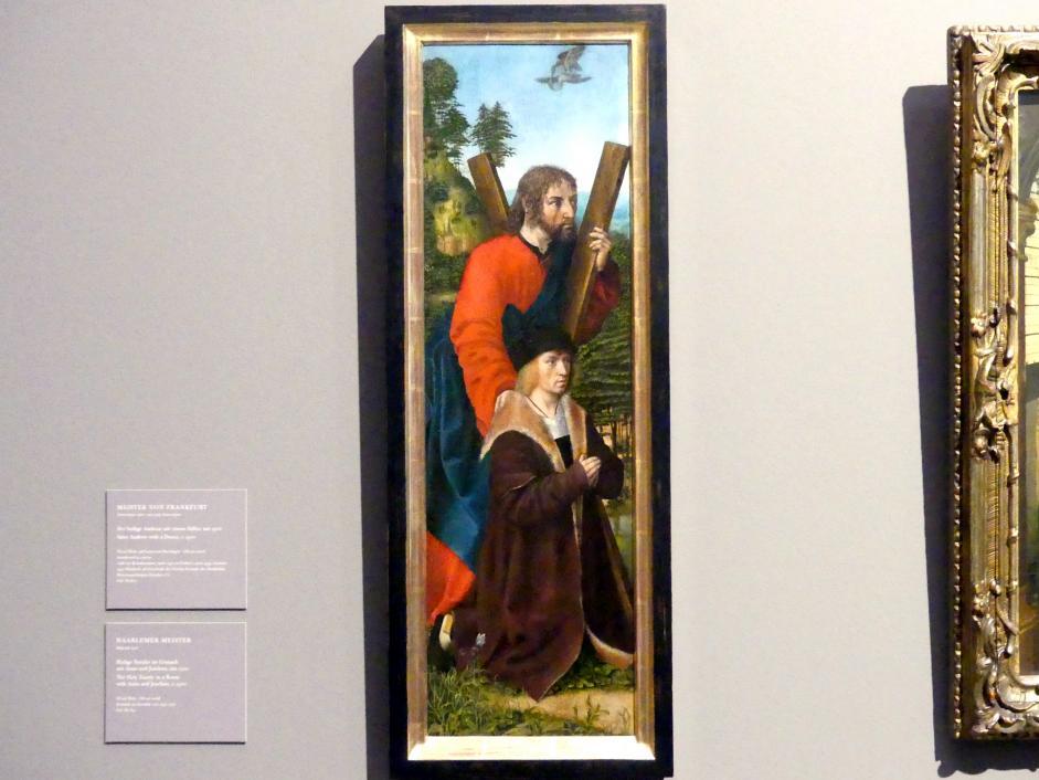 Meister von Frankfurt: Der heilige Andreas mit einem Stifter, um 1500
