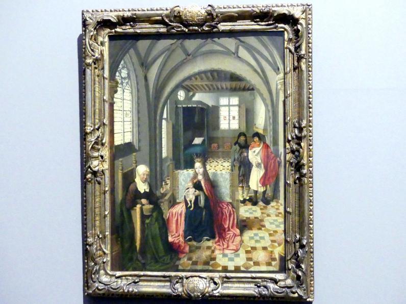 Heilige Familie im Gemach mit Anna und Joachim, um 1500