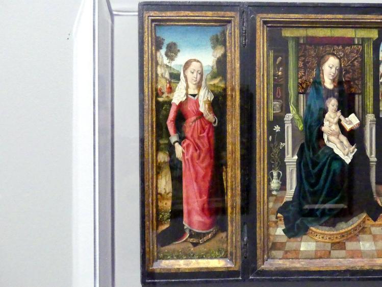 Meister der Brügger Ursulalegende: Marientryptichon mit der heiligen Magdalena und der heiligen Katharina, um 1485 - 1490, Bild 2/5