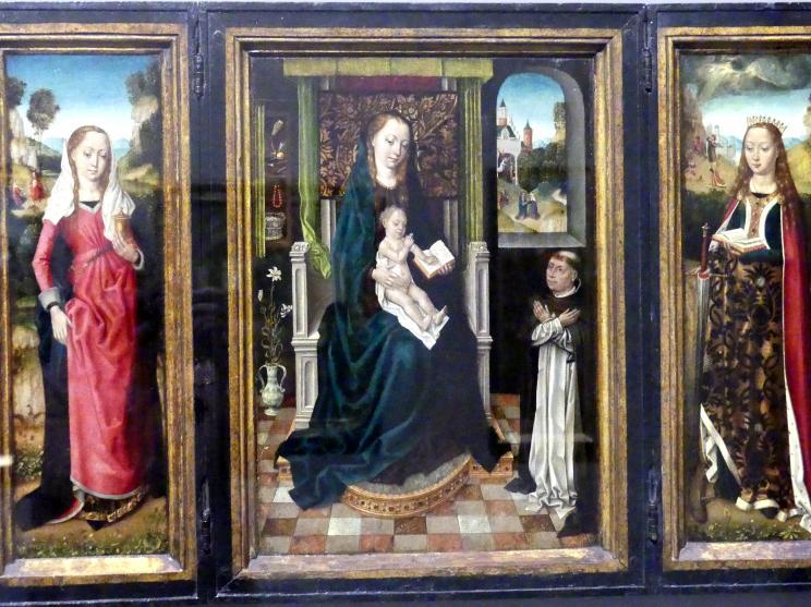 Meister der Brügger Ursulalegende: Marientryptichon mit der heiligen Magdalena und der heiligen Katharina, um 1485 - 1490, Bild 3/5