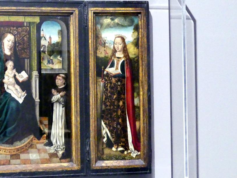 Meister der Brügger Ursulalegende: Marientryptichon mit der heiligen Magdalena und der heiligen Katharina, um 1485 - 1490, Bild 4/5
