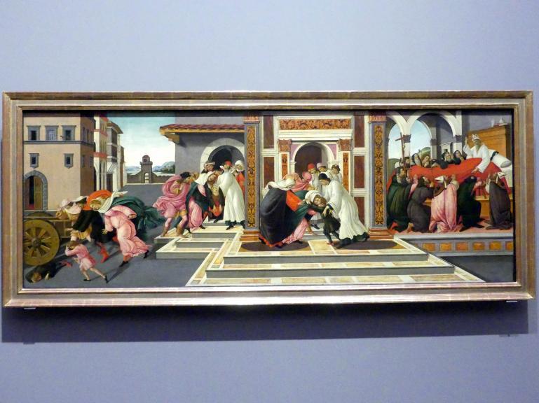 Sandro Botticelli: Aus dem Leben des heiligen Zenobius, um 1500