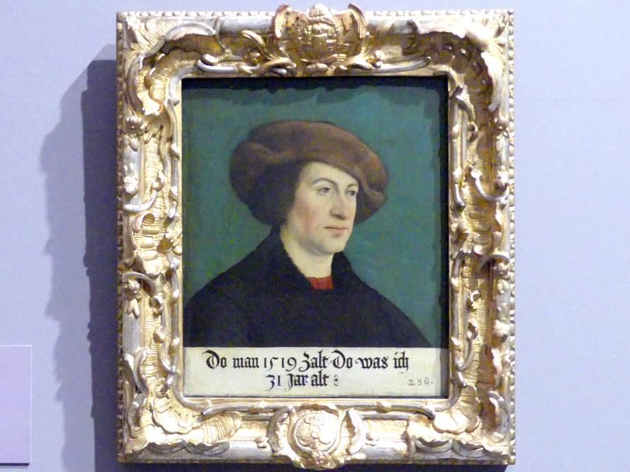 Hans Maler zu Schwaz: Bildnis eines Mannes mit brauner Pelzmütze, 1519