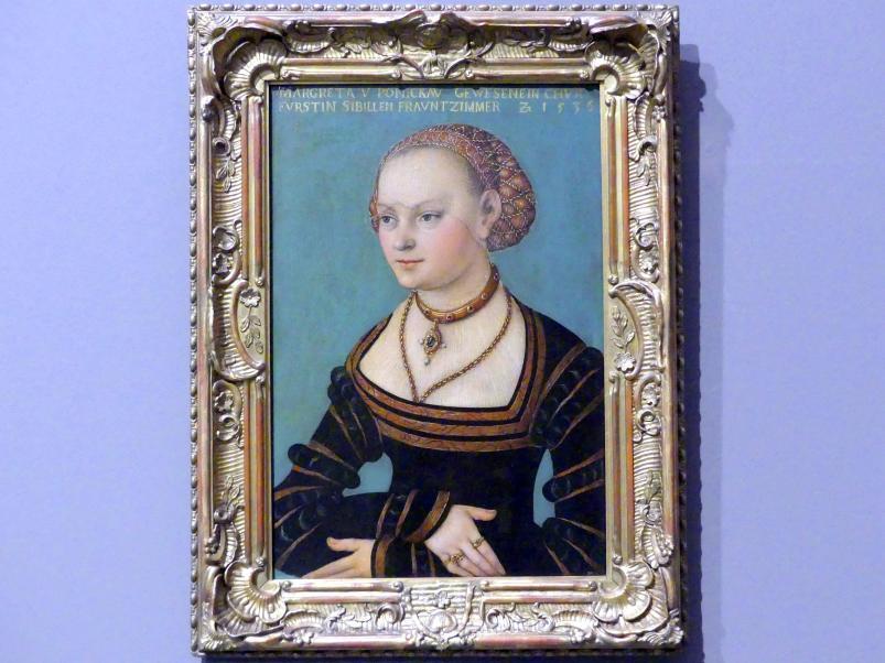 Lucas Cranach der Ältere (Werkstatt): Margarethe von Ponickau, 1536