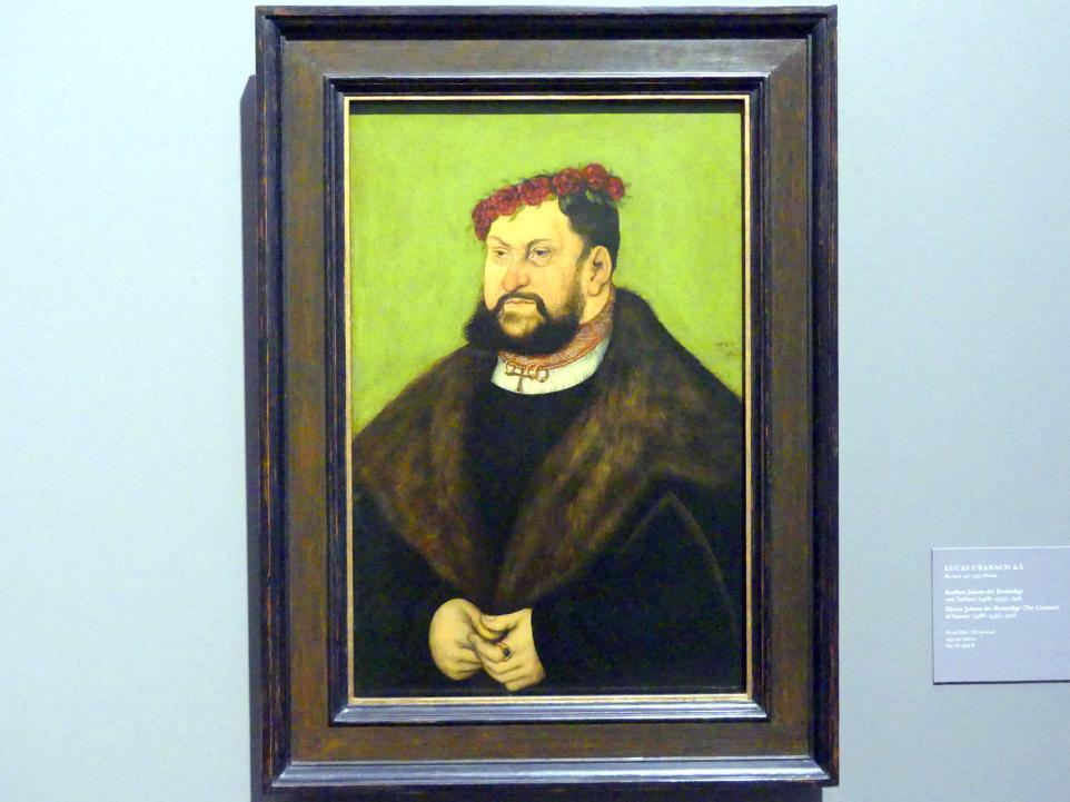 Lucas Cranach der Ältere: Kurfürst Johann der Beständige von Sachsen (1468-1532), 1526