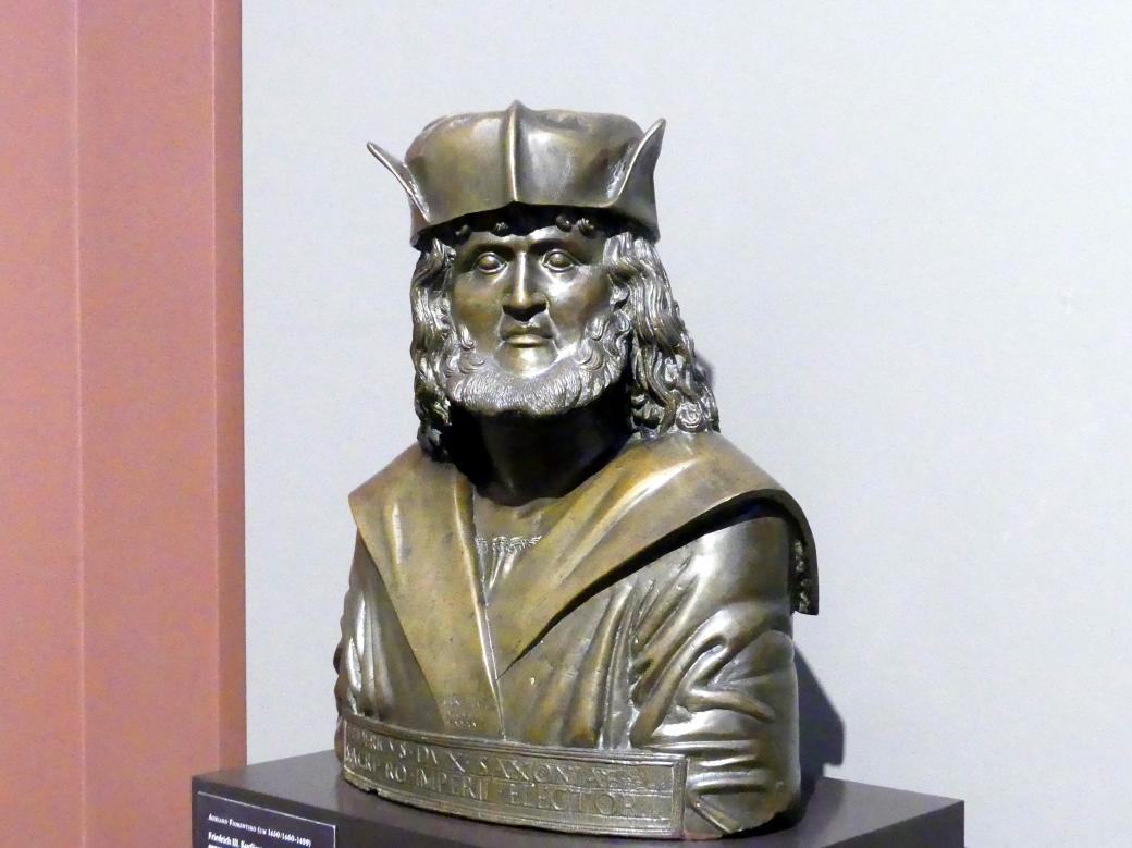"""Adriano Fiorentino: Friedrich III. Kurfürst von Sachsen, genannt """"der Weise"""", 1498, Bild 2/4"""