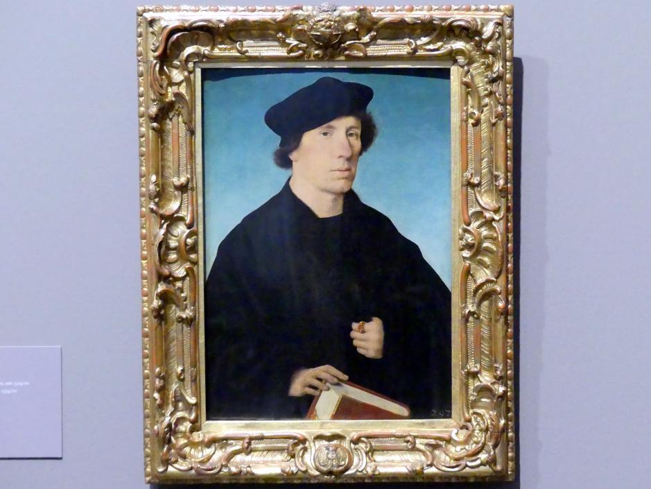 Joos van Cleve (Joos van der Beke): Bildnis eines bartlosen Mannes, um 1519 - 1520