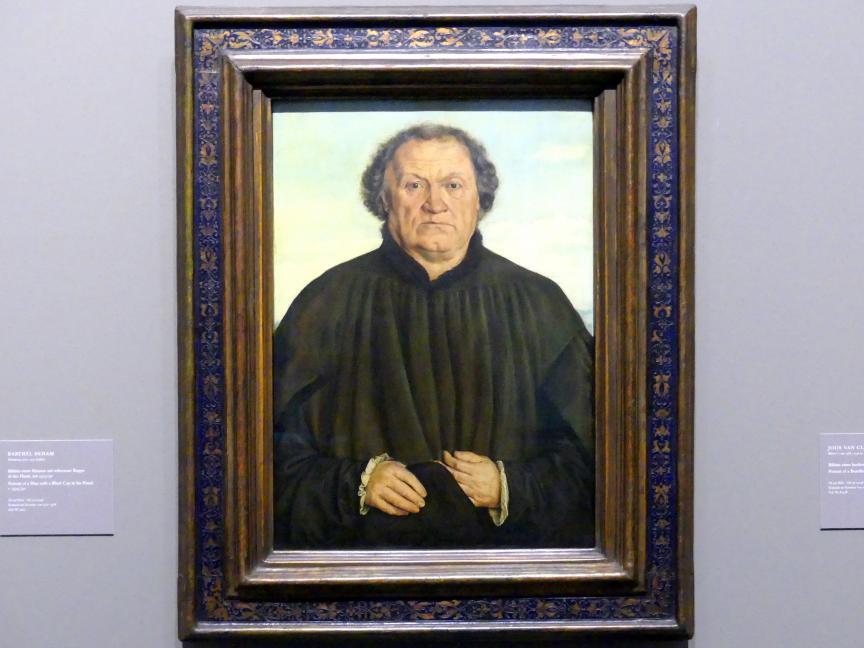 Barthel Beham: Bildnis eines Mannes mit schwarzer Kappe in der Hand, um 1525 - 1530