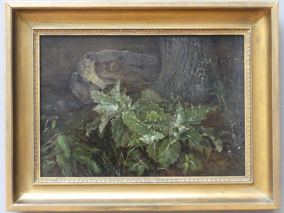 Carl Gustav Carus: Waldstück mit Baumstamm, 1820