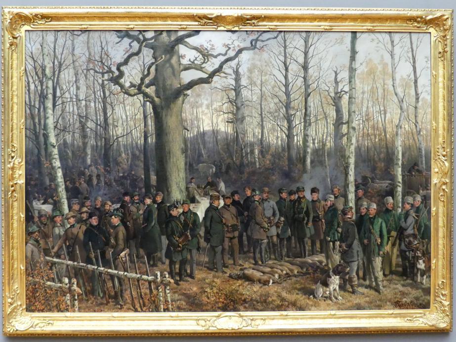 Ferdinand von Rayski: Jagdpause im Wermsdorfer Wald, 1859