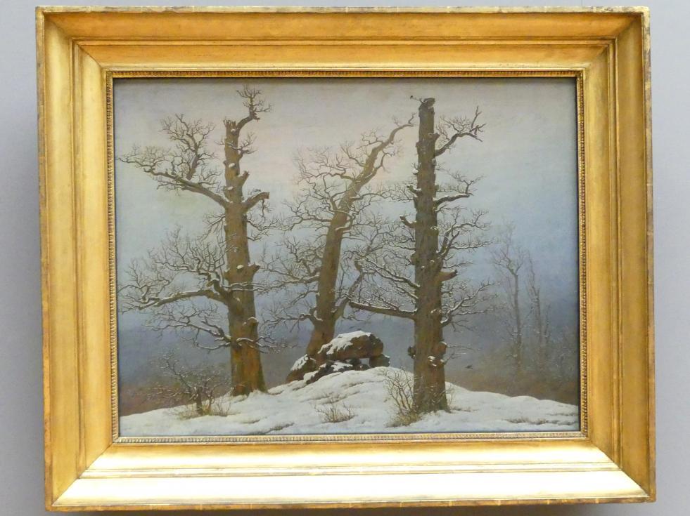 Caspar David Friedrich: Hünengrab im Schnee, um 1807