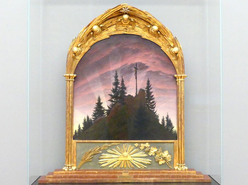 Caspar David Friedrich: Das Kreuz im Gebirge (Tetschener Altar), 1807 - 1808