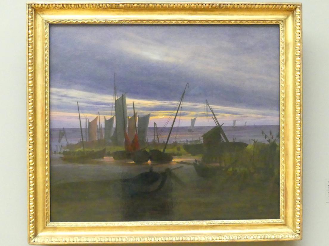 Caspar David Friedrich: Schiffe im Hafen am Abend, um 1828