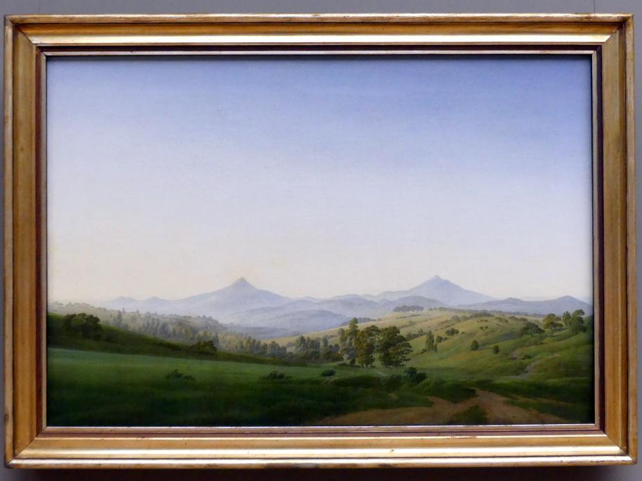 Caspar David Friedrich: Böhmische Landschaft mit dem Milleschauer, 1808