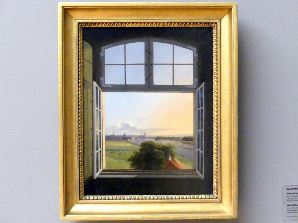Karl Gottfried Traugott Faber: Blick auf Dresden, 1824